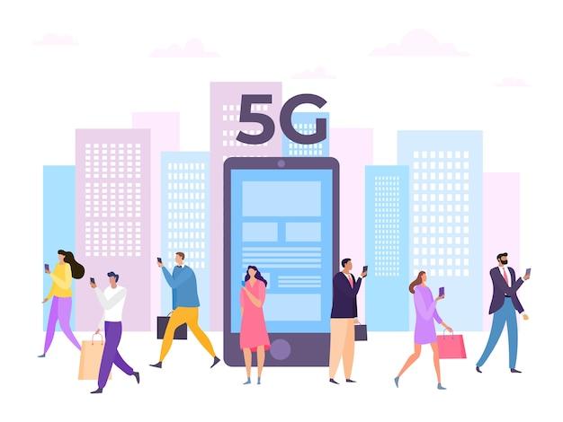5g digitaal mobiel internet in smartphonenetwerk