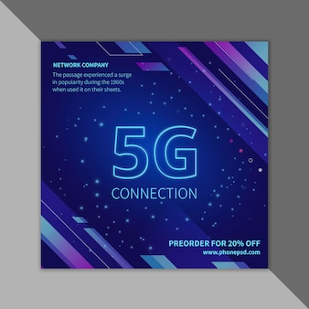 5g flyer-sjabloon