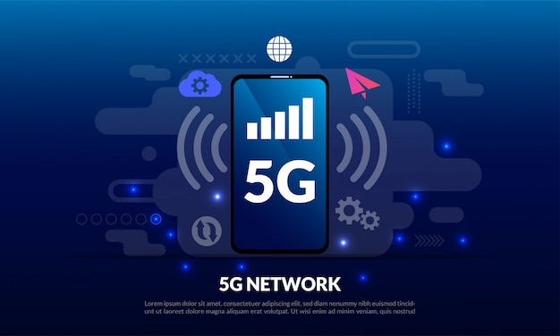 5g mobiel netwerksjabloon