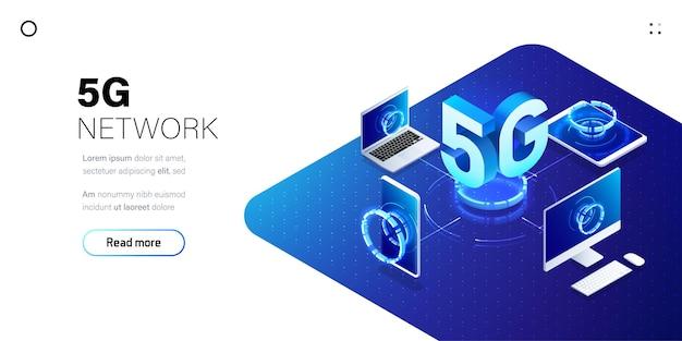 5g-netwerk draadloze technologie illustratie