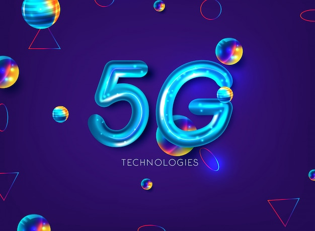 5g netwerkachtergrond