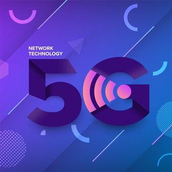 5g netwerktechnologie memphis design