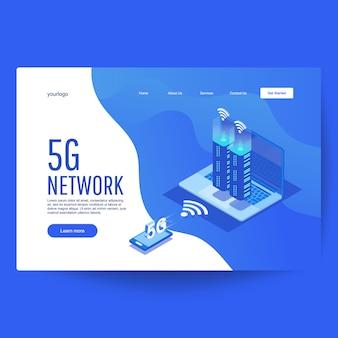 5g nieuwe draadloze internet wifi-verbinding.