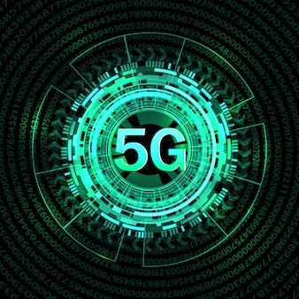 5g nieuwe draadloze internetverbinding achtergrond.