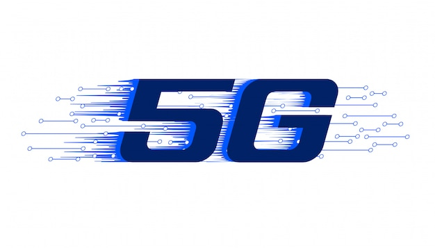 5g nieuwe firth generatie draadloze technologie achtergrond