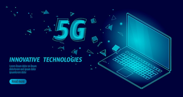 5g nieuwe wifi-verbinding voor draadloos internet.