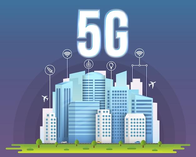 5g-signaaloverdrachtstechnologie, internet wifi.