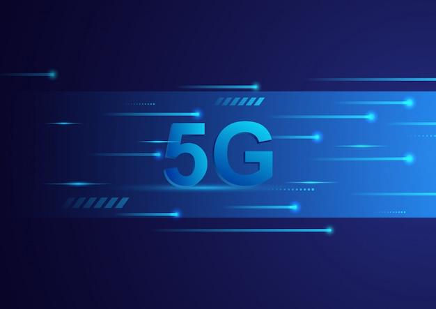 5g technologie concept digitale achtergrond. snelle breedbandtelecommunicatie. illustratie