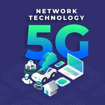 5g technologie isometrisch