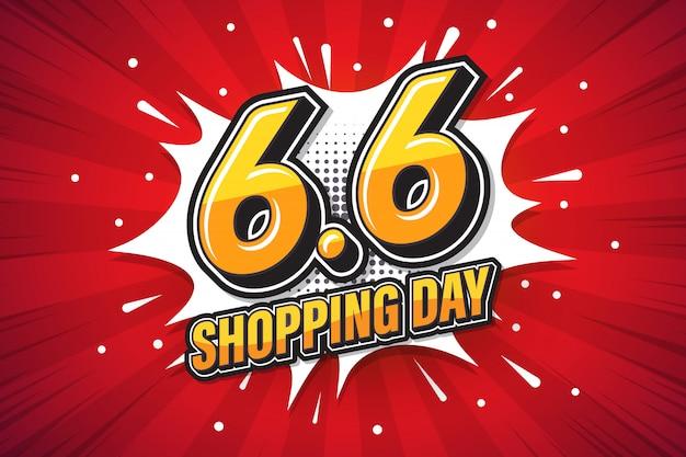 6.6 shopping dag lettertype expressie popart komische tekstballon. .jpg