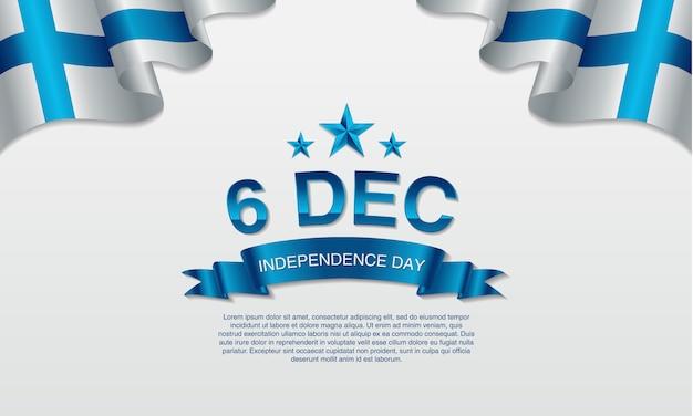 6 december, finland, vliegende ballons en wapperende vlag.