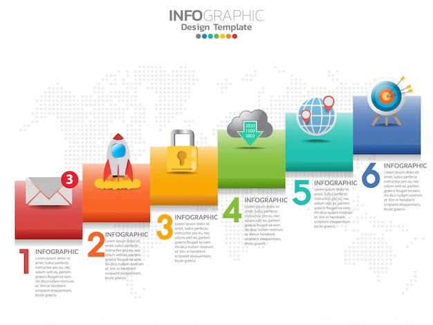 6 delen van presentatie bedrijfsconcept