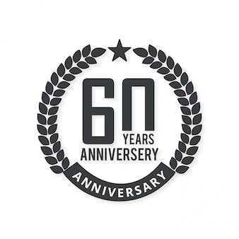 60 jaar vieringenbadge met lichte achtergrond