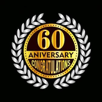 60-jarig jubileum badge