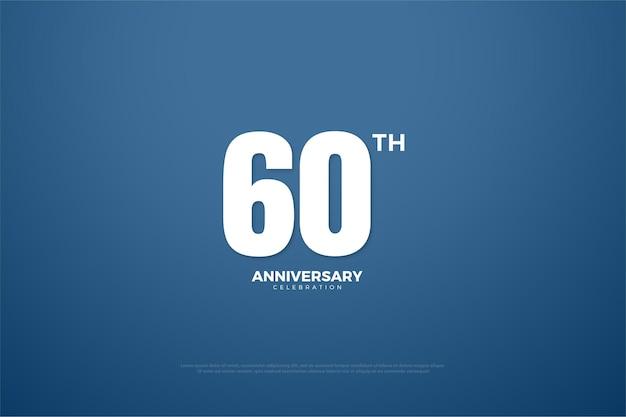 60-jarig jubileum met eenvoudige afbeelding.