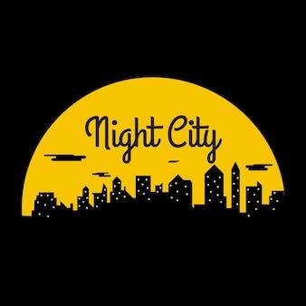 64. 's nachts in de stad en gehuld in mist