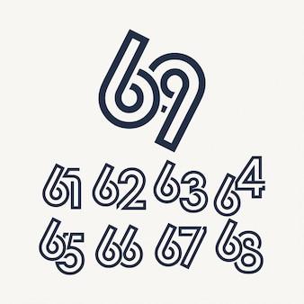 69 jaar verjaardag viering sjabloon