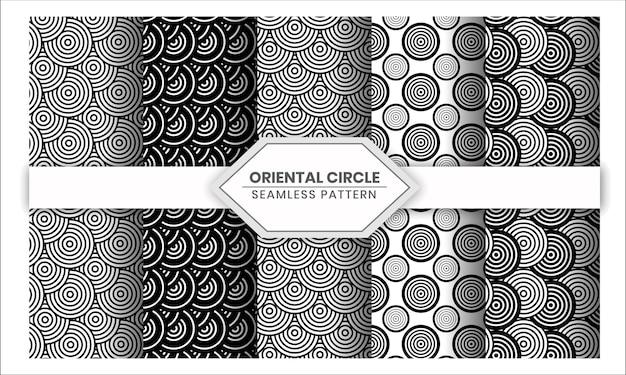 69. oosters cirkel naadloos patroon