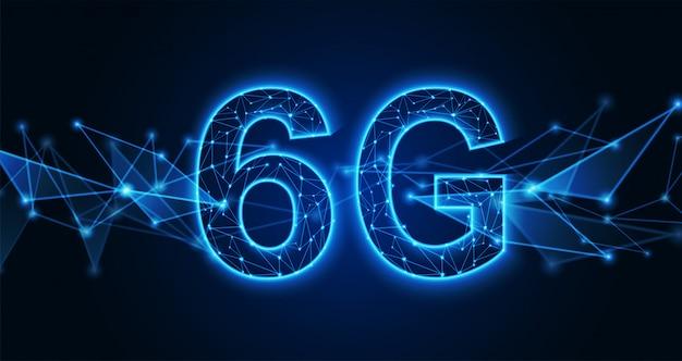6g nieuwe draadloze internet wifi-verbinding. technische achtergrond.