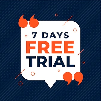 7 dagen gratis proefbanner met aanhalingstekens
