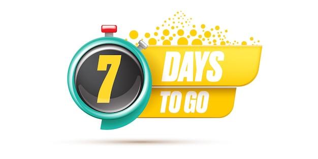7 dagen te gaan bannerontwerpsjabloon
