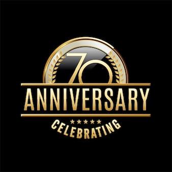 70 jaar verjaardag embleem illustratie