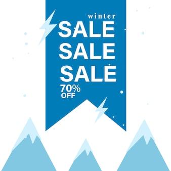 70% korting op sale badge vector