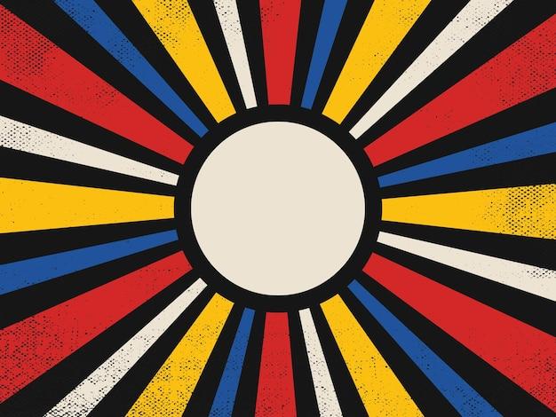 70s grunge retro burst achtergrond
