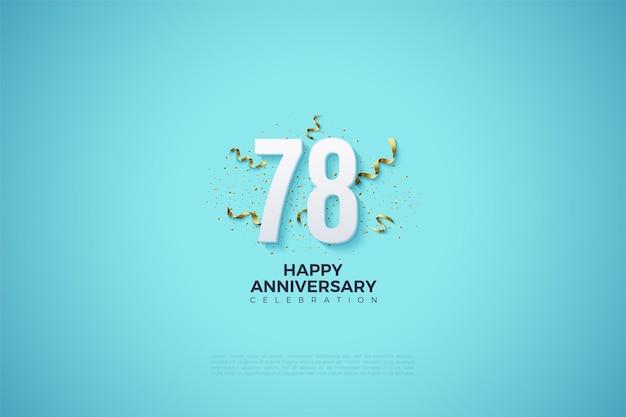 78-jarig jubileum met nummers en feestfestiviteiten