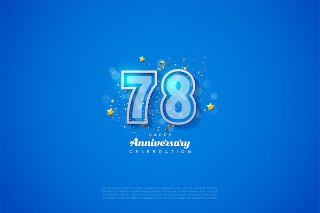 78e verjaardag met dubbele numerieke rand