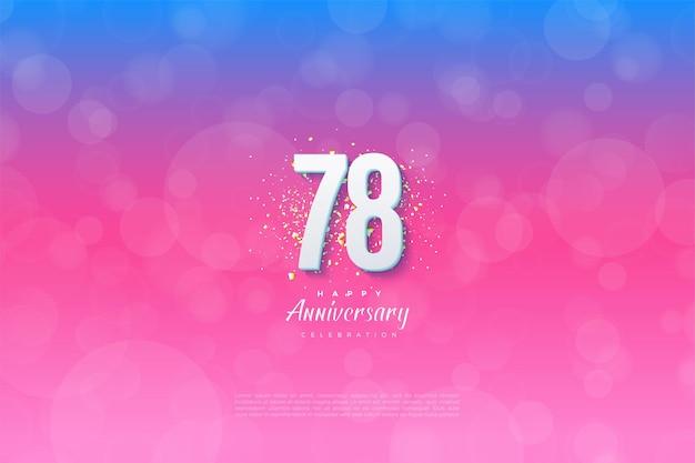 78e verjaardag met een gegradeerde achtergrond