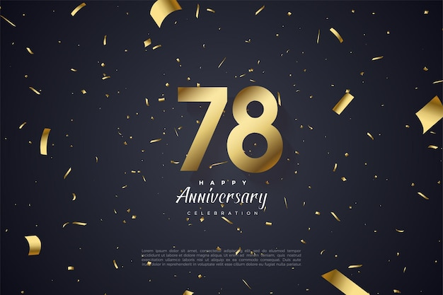 78e verjaardag met gouden cijfers illustratie