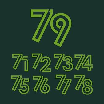 79 jaar verjaardag viering sjabloon