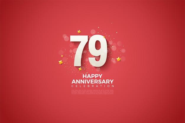 79e verjaardag met een eenvoudig ontwerp