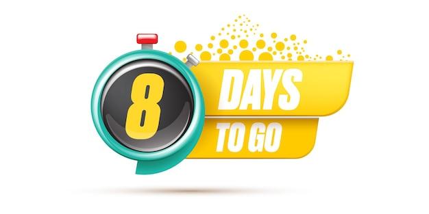 8 dagen te gaan bannerontwerpsjabloon