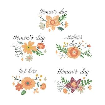8 maart internationale vrouwendag-ontwerp