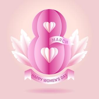 8 maart vrouwendag illustratie