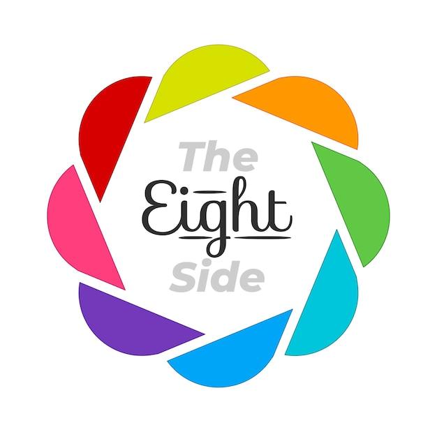 8 manieren infographic cirkelsjabloon met verschillende kleuren. presentatie sjabloon.