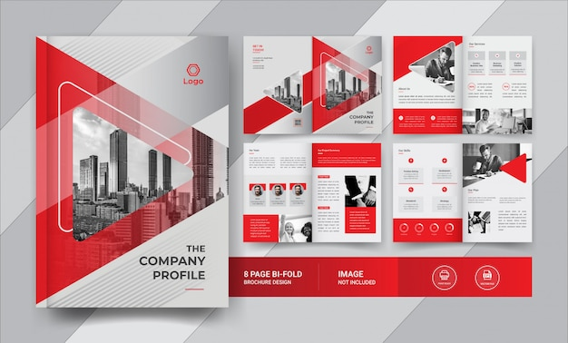 8 pagina bedrijfsbrochureontwerp