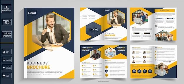 8 pagina's abstract brochureontwerpbedrijfsprofielbrochureontwerphalfgevouwen brochurebifold-brochure