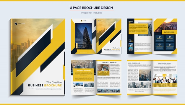 8 pagina's zakelijke brochure design