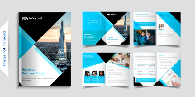 8 pagina zakelijke brochure ontwerpsjablonen