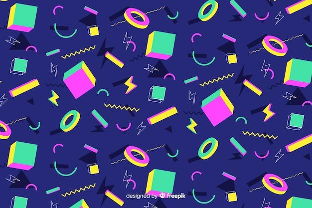 80 stijlachtergrond met geometrische vormen