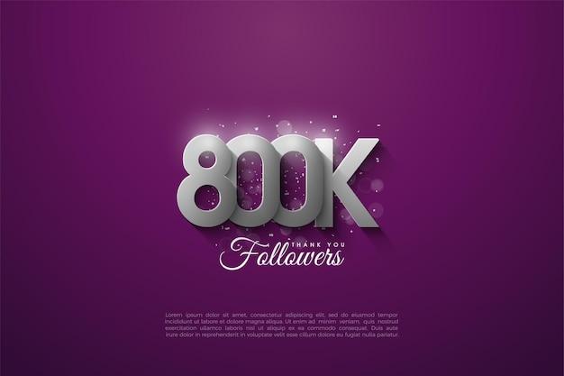 800k volgers met 3d-nummers in reliëf
