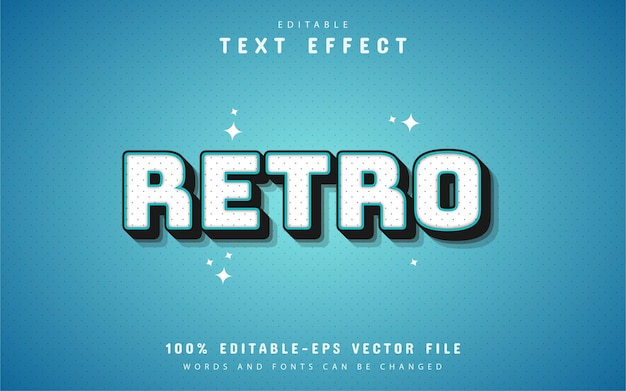 80s retro blauw teksteffect