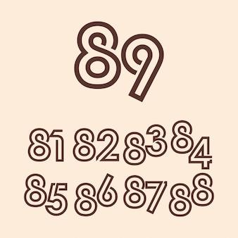 89 jaar verjaardag viering sjabloon