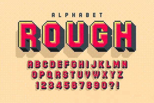 8bit kleurrijk alfabet met logo-ontwerp