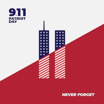 9.11 patriot dag achtergrond poster banner