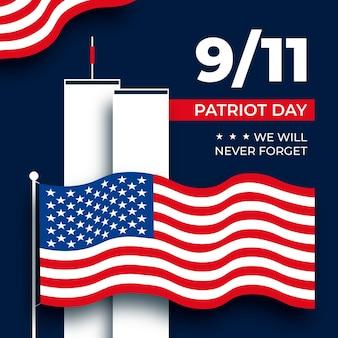 9.11 patriot dag illustratie