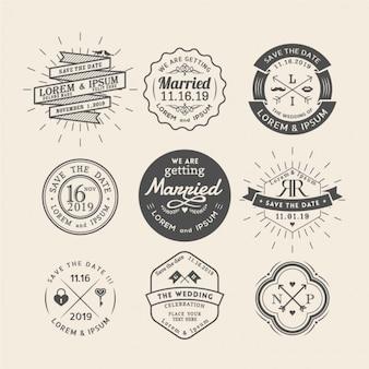 9 bruiloft badges